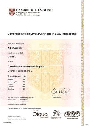 Gdzie odbiorę certyfikat Cambridge English