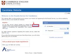 Strona logowania Cambridge English
